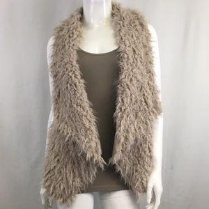 NWT Melody Tan Fur Vest
